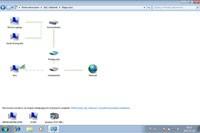Mapa sieci prezentuje komputery i urządzenia obecne w twoim otoczeniu. Standardowo wyświetlane są stacje pracujące pod kontrolą Windows Vista i Windows 7.