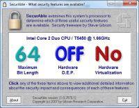 SecurAble informuje, czy procesor jest 32-, czy 64-bitowy