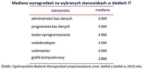 W IT w Polsce nadal zarabia się najwięcej