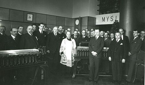 Otwarcie polskiego biura IBM w lipcu 1936 r. (zamkniętego po wybuchu II Wojny Światowej).