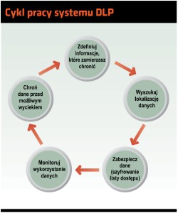 Cykl pracy systemu DLP