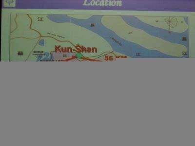 Znajduje się ok 50 km od Szanghaju
