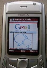 """""""Klasyczny"""" Gmail, otwarty na telefonie komórkowym"""