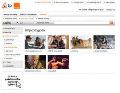 Internetowa wypożyczalnia filmów TP