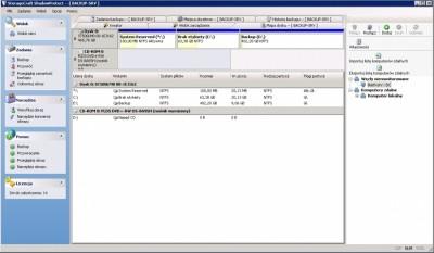 StorageCraft ShadowProtect - główne okno programu
