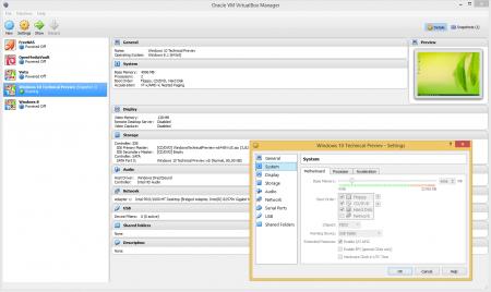 Oracle VirtualBox – okno tworzenia i zarządzania maszynami wirtualnymi