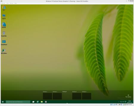 Okno wirtualnego systemu działającego w VirtualBoksie