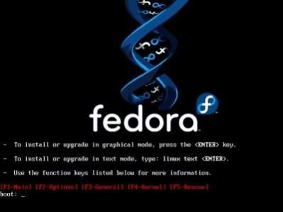 Uruchamiający się instalator Fedory Core 6