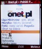 Klasyczny Onet.pl na komórce. Rozmiar po kompresji (przeglądarka Opera Mini): 33 KB.