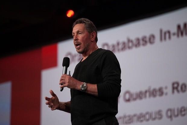Larry Ellison, CTO firmy Oracle, wystąpienie podczas konferencji OpenWorld