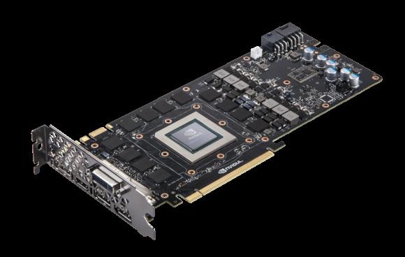 Karta grafiki Nvidia GeForce GTX Titan X, na której producent instaluje pamięci GDDR5