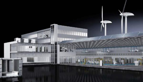 Rysunek 1. Centrum danych (po lewej) jako baza dla produkcji przemysłowej.