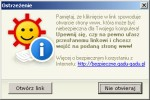 Ostrzeżenie przed otwarciem strony internetowej