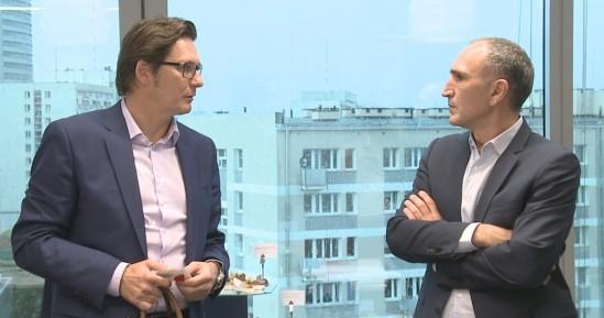 Ronald Binkofski, CEO Microsoft Polska oraz Eric Haddad, Dyrektor Zarządzający Google for Work EMEA