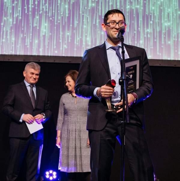 """Piotr Słomianny, laureat Diamentu CIO 2017 """"CIO cyfrowy przewodnik branży"""""""