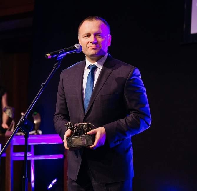 Sławomir Panasiuk, CIO Roku 2009 z nagrodą Lew Klubu CIO XV-lecia.