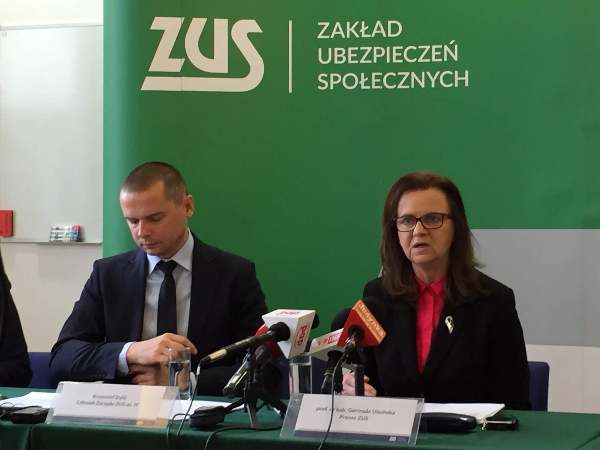Ogłoszenie wyników przetargu podczas konferencji ZUS. Fot. T. Bitner