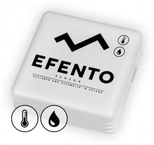 Czujnik do zdalnego pomiaru temperatury i wilgotności. Źródło: Efento.