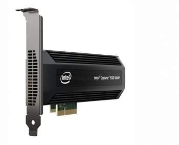 Pamięci Intel 900P Optane z interfejsem PCi Express. Według nieoficjalnych informacji wkrótce mają pojawić się ich modele o pojemności 960 GB, a nawet 1,5 TB. Źródło: Intel.
