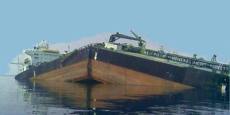 Nieprawidłowy rozkład obciążeń wywoływanych przez ładunek może spowodować, że kadłub statku pęknie. Źródło: Trend Micro, William J. Malik.