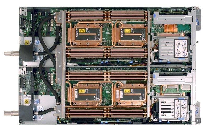 Rysunek 2: Przepływ wody przez system CPU