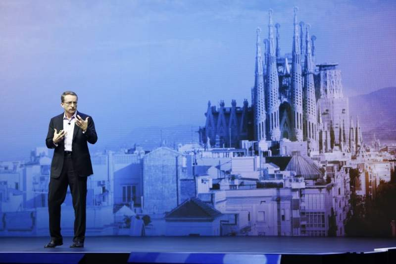 Pat Gelsinger, VMware CEO otwiera konferencję VMworld 2018 w Barcelonie. Źródło: VMware.