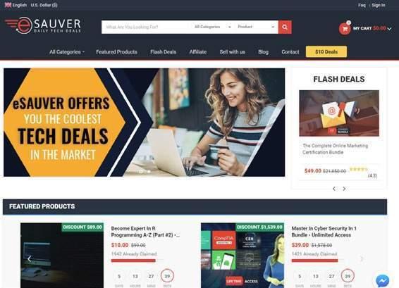 """Warto zajrzeć na serwis www.esauver.com, który oferuje zniżki do wielu popularnych platform z kursami online. Często są to bardzo duże przeceny, np. z 1578 dol. na 39 dol. za program nauczania """"Master in Cyber Security""""."""